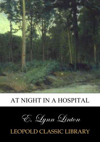 At night in a hospital