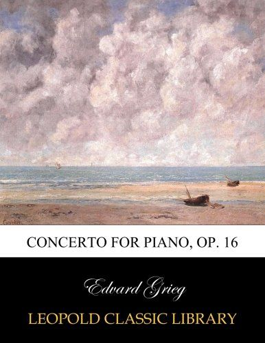 Concerto for piano, op. 16