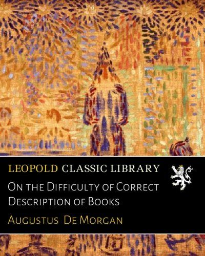 On the Difficulty of Correct Description of Books